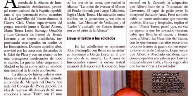 """Salvador Arias: """"Las guerrillas del teatro"""""""