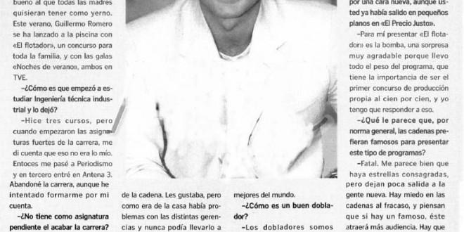 """Guillermo Romero: """"Si se dan cuenta de tu trabajo es que está mal hecho"""""""