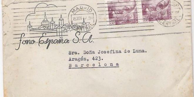 FONO ESPAÑA  a Josefina de Luna (1947)