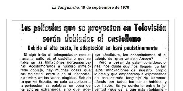 """""""Castellano perfecto"""" en TVE, 1970"""