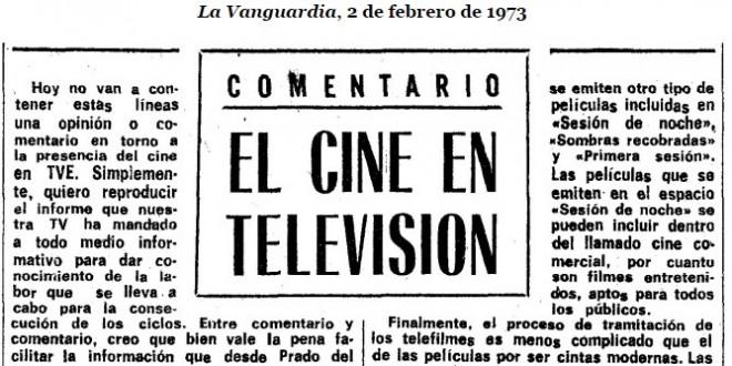 El cine en la televisión de 1973