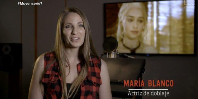 La voz de Daenerys Targaryen, Madre de Dragones.