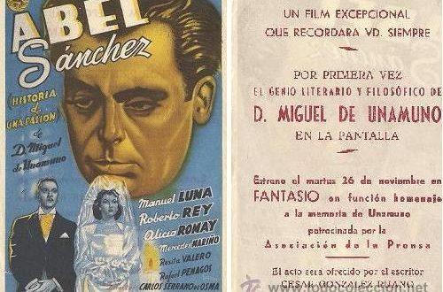 """Valero y Penagos en """"Abel Sánchez"""", 1946"""