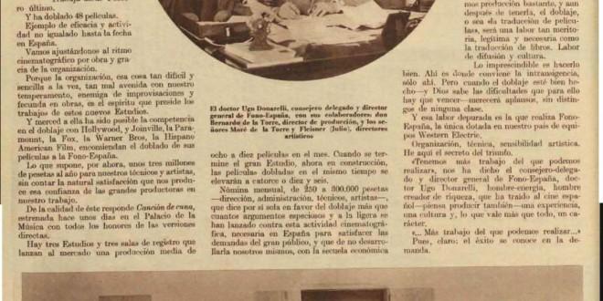 FONO ESPAÑA, 1934
