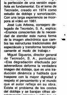 Tecnisón y el vídeo, 1985