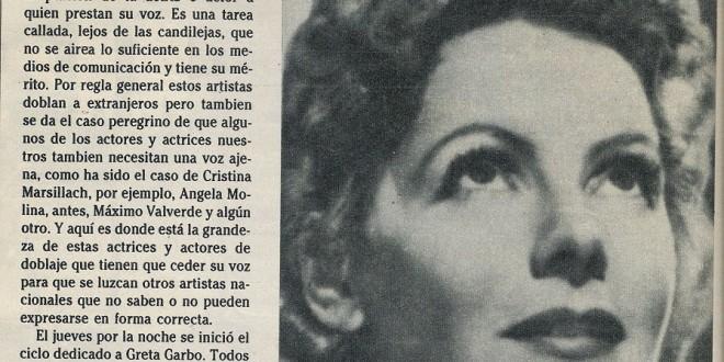 La voz de la Garbo (1986)