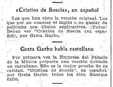 Garbo habla castellano