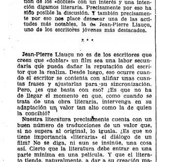 """Los franceses, el doblaje y la """"importancia literaria"""" (1934)"""
