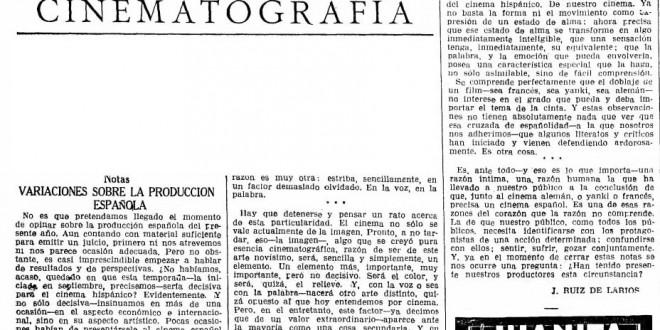 """""""Y con la voz nacerá otro arte distinto"""" (1935)"""