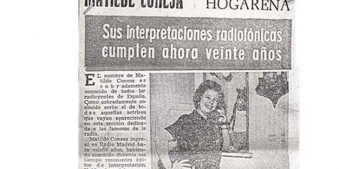 """""""Matilde Conesa es muy hogareña"""" (1967)"""