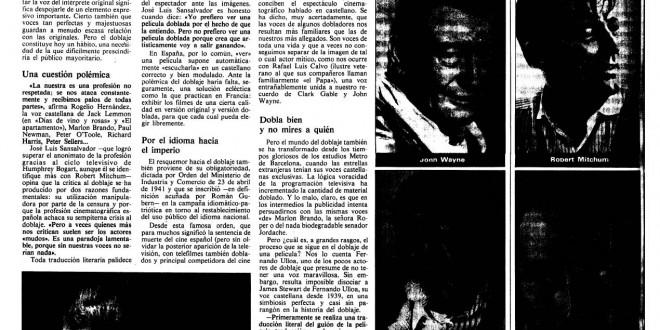 """""""Voces de toda una vida"""" (1980)"""