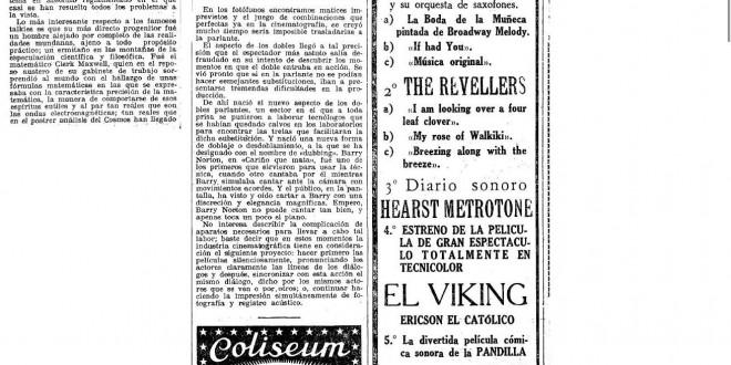 """""""Artistas anónimos"""": el """"dubbing"""" y el fenómeno de la cinematografía parlante (1929)"""