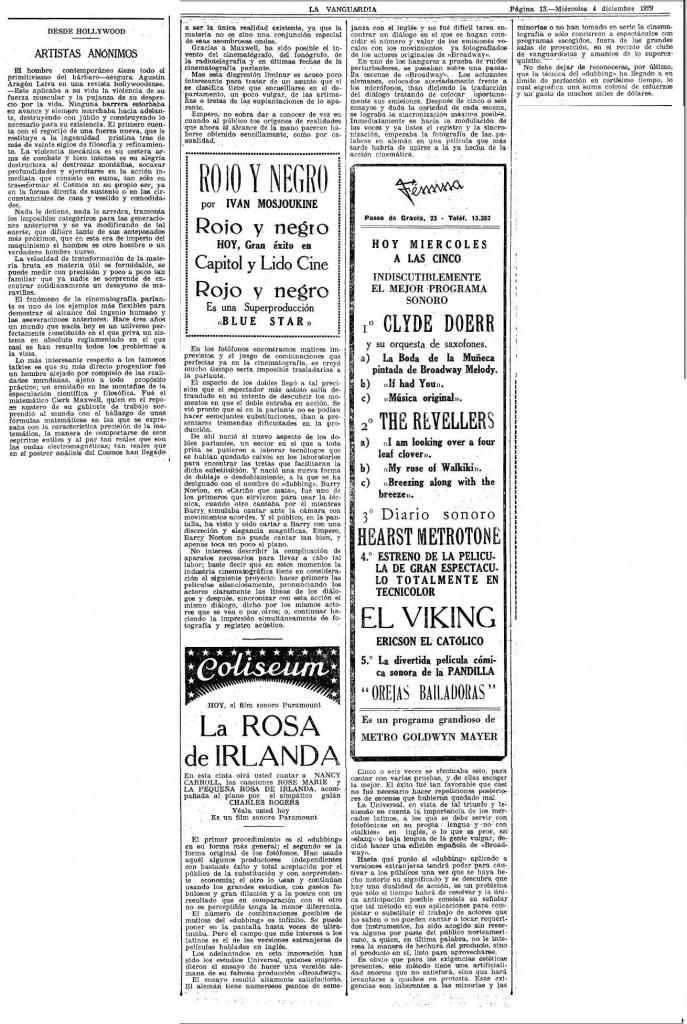 la vanguardia_1929
