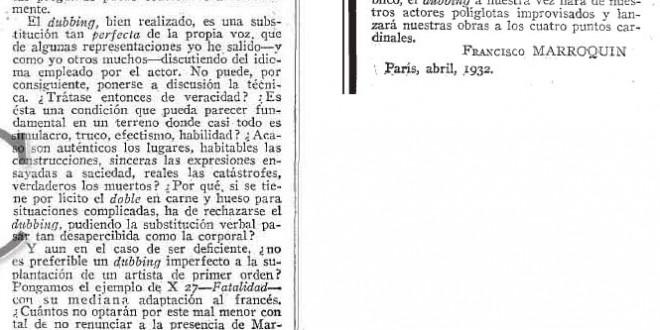 """""""Un enemigo en la sombra"""" (1932)"""