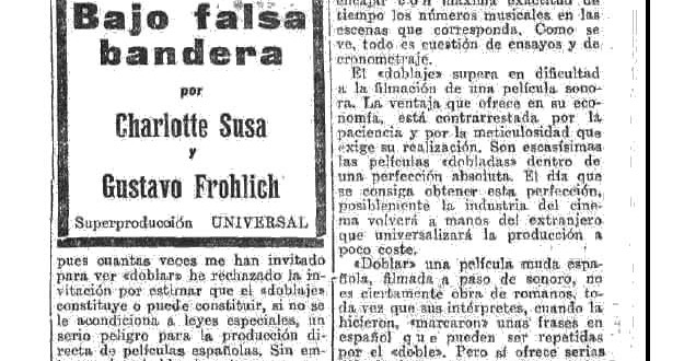 """La dificultosa industria del """"doble"""" (1932)"""