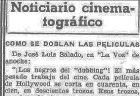 """""""¡Los negros del dubbing!"""", 1934"""