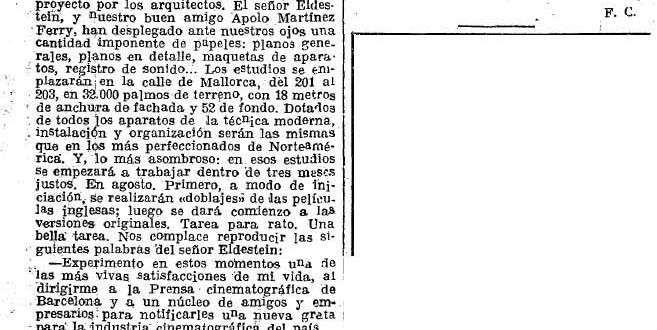 Bienvenido, Mr. Eldestein (1933)