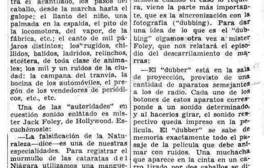 """""""El sonido en conservas"""": el dubber (1935)"""