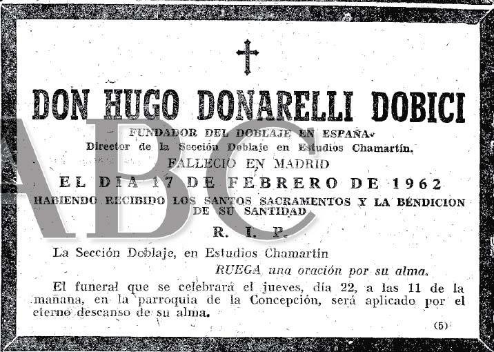 abc 20 febrero 62 esquela donarelli
