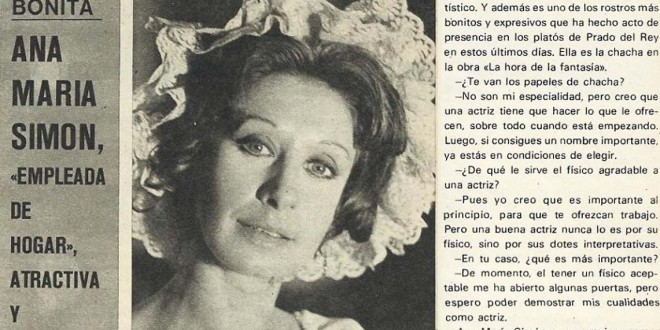 "Ana Mª Simón: ""Atractiva y elegante"""