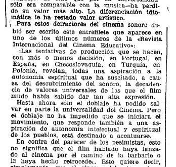 """Hacia la """"universalidad del Cinema"""""""