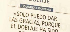 "Eduardo Moreno: ""Solo puedo dar las gracias"""