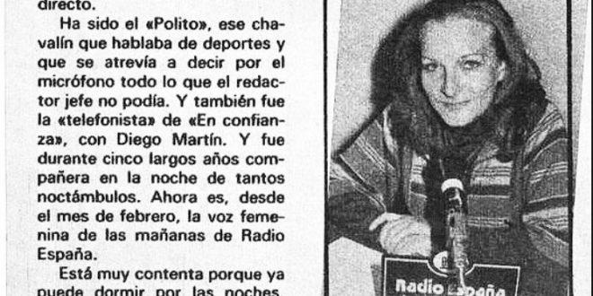 """""""Marisa Marco es rubia, tranquila y bonita"""""""
